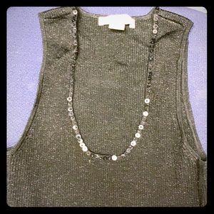 Black sparkle WHBM Dressy Top Small